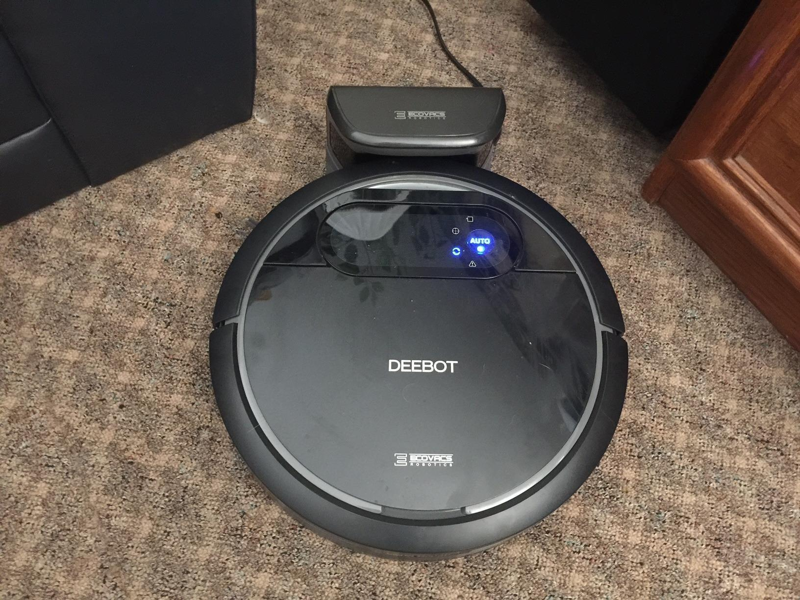Ecovacs Deebot N78 Robot Vacuum Cleaner in the charging dock