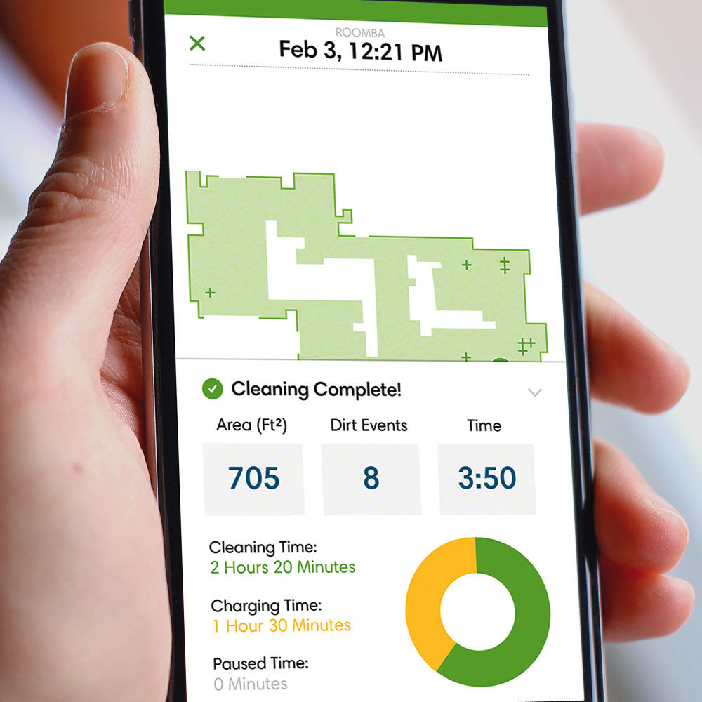 Robotic vacuum cleaner smartphone app