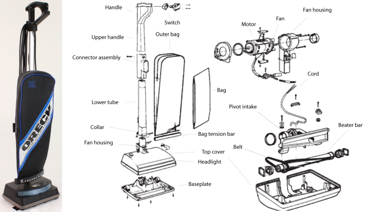 Vacuum cleaner assembly