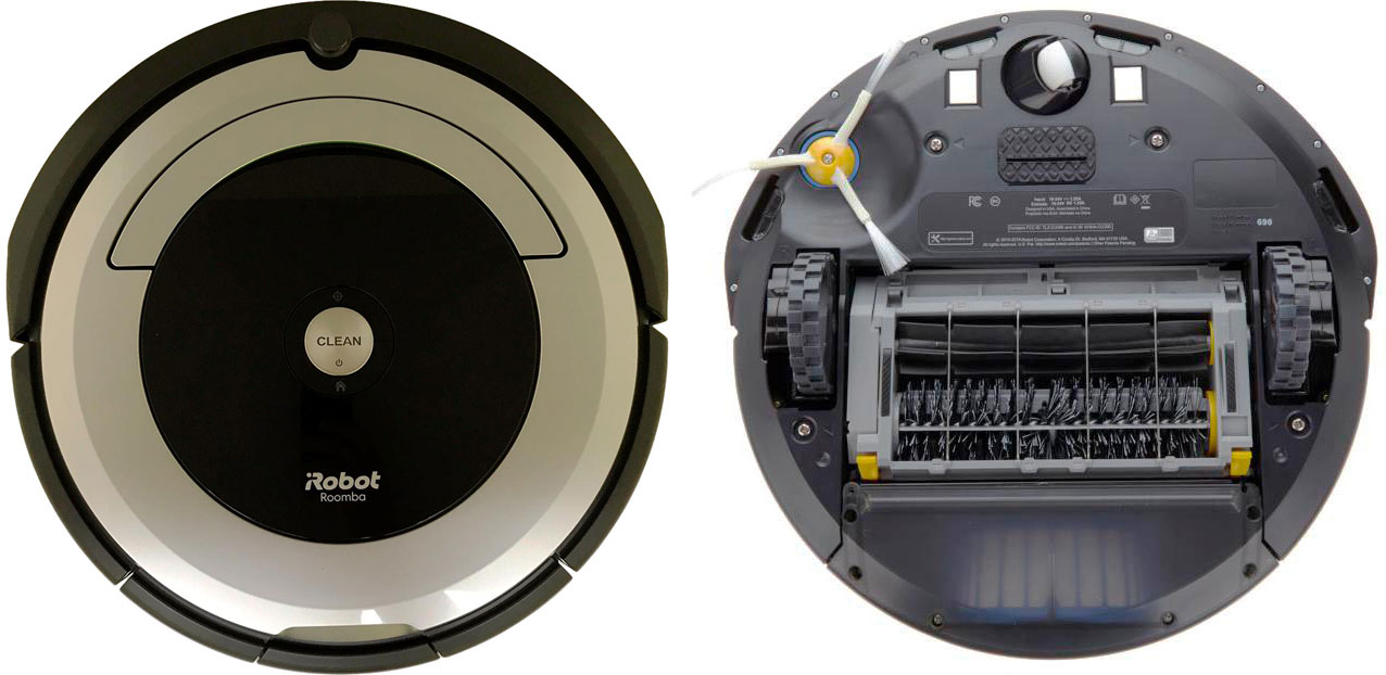 iRobot Roomba 690 top and bottom